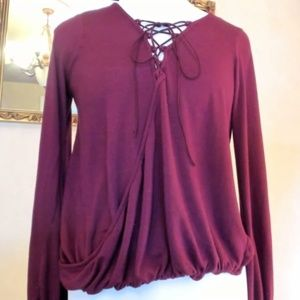 Charlotte Russe Maroon Blouse S